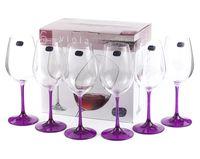 """Бокал для вина стеклянный """"Viola"""" (6 шт.; 250 мл; арт. 40729/D4834/250)"""