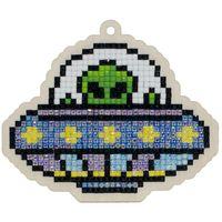 """Алмазная вышивка-мозаика """"Брелок. Инопланетный гость"""" (98х82 мм)"""