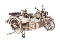 """Сборная деревянная модель """"Мотоцикл с коляской """"Уран"""""""