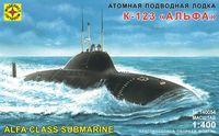 """Атомная подводная лодка К-123 """"Альфа"""" (масштаб: 1/400)"""