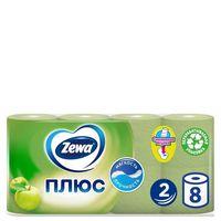 """Туалетная бумага """"Zewa Плюс. Яблоко"""" (8 рулонов)"""