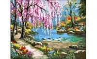 "Картина по номерам ""Тихая речка"" (400x500 мм)"