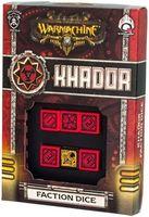 """Набор кубиков """"Warmachine Khador Faction"""" (6 шт.; красно-черный)"""