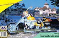"""Сборная деревянная модель """"Классический мотоцикл"""" (Мотоцикл Харлей-2)"""