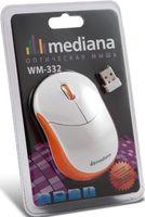 Беспроводная оптическая мышь Mediana WM-332 (white-orange)