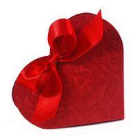"""Подарочные коробочки """"Красное сердце"""" (10 шт.)"""