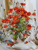 "Картина по номерам ""Букет маков"" (300х400 мм; арт. 035-AS)"