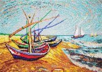 """Вышивка бисером """"Лодки в Сен-Мари"""" (320х240 мм)"""