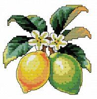 """Вышивка крестом """"Лимончики"""" (110x110 мм)"""