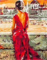 """Картина по номерам """"Раздумья у реки"""" (400х500 мм; арт. PC4050126)"""