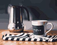 """Картина по номерам """"Бодряший кофе"""" (500х400 мм)"""