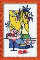 """Вышивка крестом """"Малиновый десерт"""" (арт. 910)"""