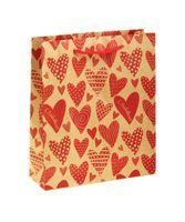 "Пакет бумажный подарочный ""Сердечки"" (11х14х6 см; арт. 10772281)"