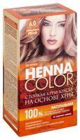 """Крем-краска для волос """"Henna Color"""" (тон: 6.0, натурально-русый)"""