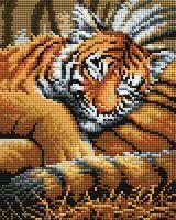 "Алмазная вышивка-мозаика ""Тигрёнок"" (200х250 мм)"