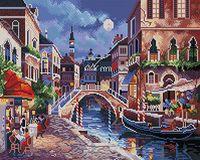 "Алмазная вышивка-мозаика ""Ночная Венеция"" (400х500 мм)"