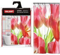 "Шторка для ванной ""Красные тюльпаны"" (180х180 см)"