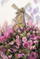 """Вышивка крестом """"Старая мельница"""" (155x220 мм)"""