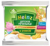 """Детское растворимое печенье """"Heinz Baby. 6 злаков"""" (60 г)"""