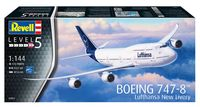 "Сборная модель ""Пассажирский самолет Boeing 747-8 Lufthansa ""New Livery"" (масштаб: 1/144)"