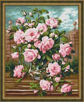 "Картина по номерам ""Розовый букет"" (400х500 мм)"