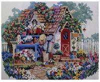 """Алмазная вышивка-мозаика """"Домик в цветах"""" (400x500 мм)"""