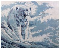 """Алмазная вышивка-мозаика """"Белый мишка"""" (400x500 мм)"""