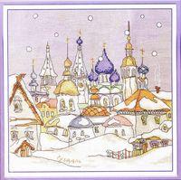"""Вышивка крестом """"Снегопад в городе"""""""