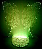 """Декоративный светильник """"3D лампа. Бабочка"""""""