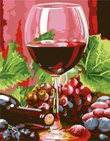 """Картина по номерам """"Красное вино"""" (300х400 мм)"""