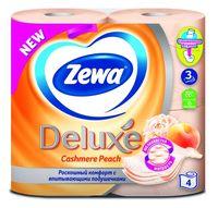 """Туалетная бумага Zewa Deluxe """"Персик"""" (4 рулона)"""