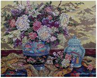 """Алмазная вышивка-мозаика """"Натюрморт с цветами"""" (400x500 мм)"""