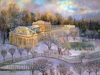 "Картина по номерам ""Усадьба зимой"" (400х500 мм)"