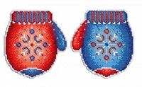 """Вышивка крестом """"Морозная рукавичка"""" (110х100 мм)"""