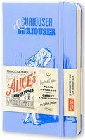 """Записная книжка Молескин """"Алиса в Стране Чудес"""" нелинованная (карманная; твердая голубая обложка)"""