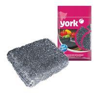 """Губка для мытья тефлона металлическая """"York"""" (125х80х27 мм)"""