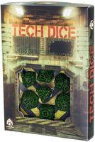 """Набор кубиков """"Tech"""" (7 шт.; черно-зеленый)"""