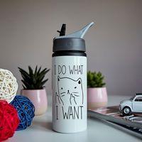 """Бутылка для воды """"Я делаю что хочу"""" (600 мл)"""