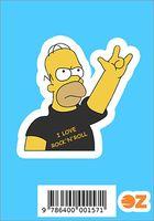 """Глянцевая наклейка """"Симпсоны. Гомер-рокер"""" (арт. 157)"""