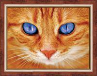 "Алмазная вышивка-мозаика ""Синеглазый кот"" (400х300 мм)"