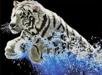 "Вышивка крестом ""Белый тигр"" (395х530 мм)"