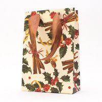 "Пакет бумажный подарочный ""Holly and Cinnamon"" (12х18х6 см)"