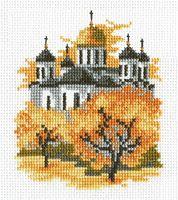 """Вышивка крестом """"Осенний пейзаж"""" (140х120 мм)"""