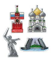"""Вышивка крестом """"Россия"""" (100х60 мм; на магните)"""