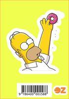 """Глянцевая наклейка """"Симпсоны. Гомер с пончиком"""" (арт. 158)"""