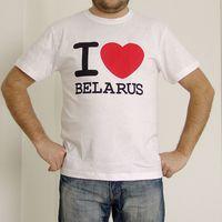 "Футболка мужская Vitaem ""I LOVE BELARUS"" (белая) (XXL)"