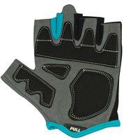 Перчатки для фитнеса SU-117 (S; чёрные/серые/голубые)