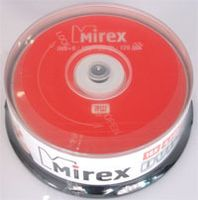 Диск DVD+R 4.7Gb 16x Mirex CakeBox 25