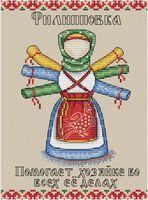 """Вышивка крестом """"Славянский оберег. Филипповка"""" (200х150 мм)"""