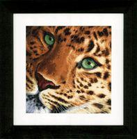 """Вышивка крестом """"Леопард"""" (350х340 мм)"""
